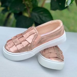 Girls Casual Ruffle Slip On Sneaker Kids Shoes New